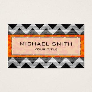 Leopard print | Wood aztec chevron Business Card