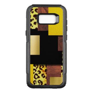 Leopard Print & Wood Collage OtterBox Commuter Samsung Galaxy S8+ Case