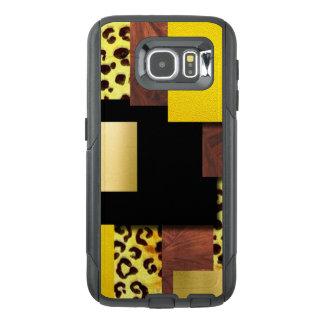 Leopard Print & Wood Collage OtterBox Samsung Galaxy S6 Case