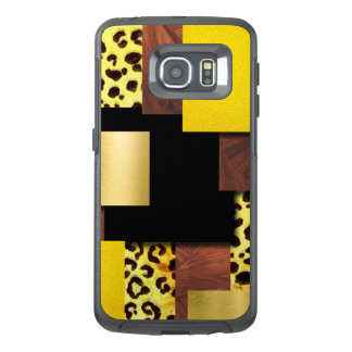 Leopard Print & Wood Collage OtterBox Samsung Galaxy S6 Edge Case