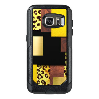 Leopard Print & Wood Collage OtterBox Samsung Galaxy S7 Case
