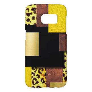 Leopard Print & Wood Collage Samsung Galaxy S7 Case
