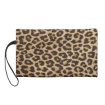 Leopard Print Wristlet Bag