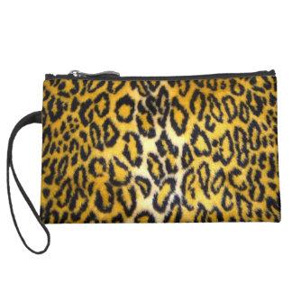 Leopard Print Wristlet Clutch