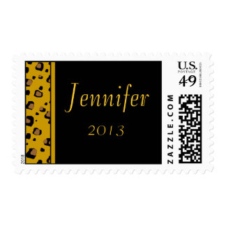 Leopard print  Your name here  custom postage