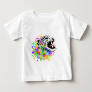 Leopard Psychedelic Paint Splats Baby T-Shirt
