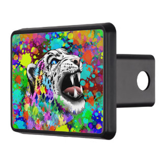 Leopard Psychedelic Splats Trailer Hitch Covers