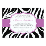 Leopard & Purple Baby Shower Invitations