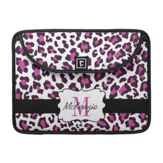 Leopard Purple Black White MacBook Pro Sleeve