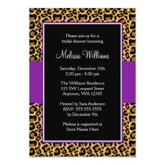 Leopard Purple Bridal Shower Invitations