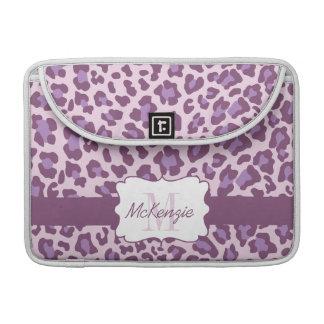 Leopard Purple Lavender MacBook Pro Sleeve