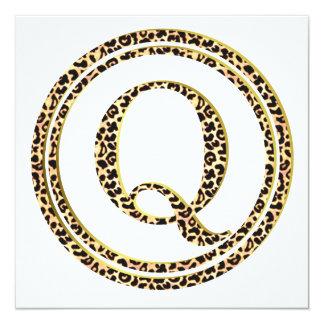 Leopard Q Card
