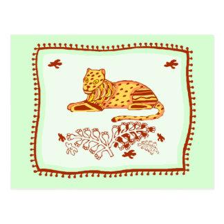 Leopard Quilt Postcard