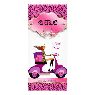 Leopard Rack Card Scooter Woman Shopping Bags