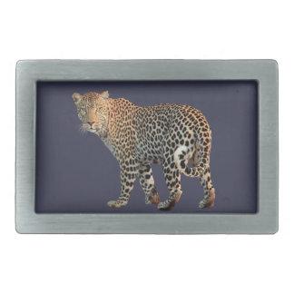 Leopard Rectangular Belt Buckle