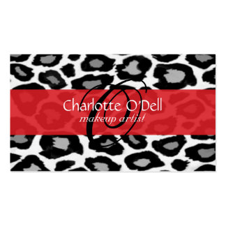 leopard; red business card