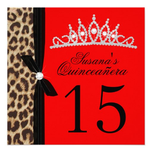 Personalized Red quinceanera Invitations CustomInvitations4Ucom