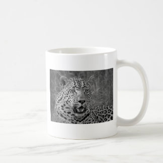 leopard relaxing coffee mug