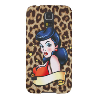 leopard retro pinup cases for galaxy s5