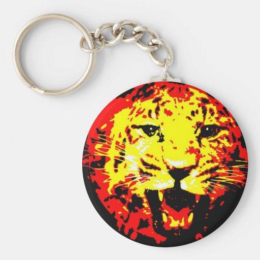 Leopard Roaring Keychain