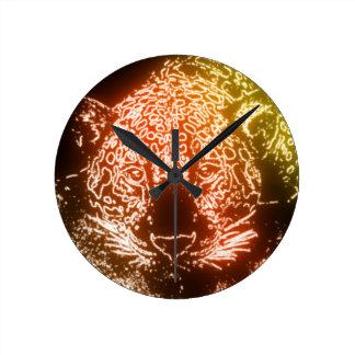 Leopard Round Clock