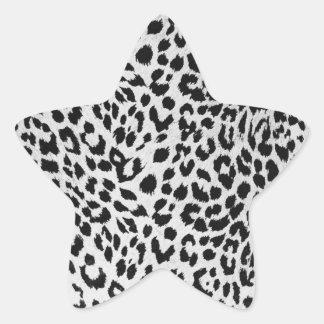Leopard s texture black white stickers