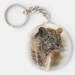 Leopard safari keychains & keyrings