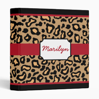Leopard School Office Scrapbook Binder Gift