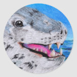 Leopard Seal Classic Round Sticker