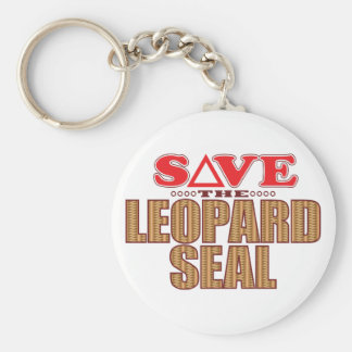 Leopard Seal Save Keychain