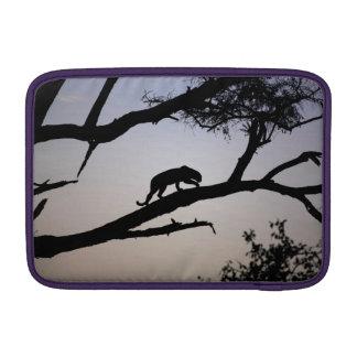 Leopard silhouette in a tree, Kenya MacBook Air Sleeve