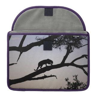 Leopard silhouette in a tree, Kenya Sleeve For MacBooks