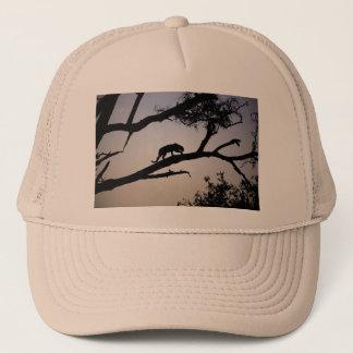Leopard silhouette in a tree, Kenya Trucker Hat