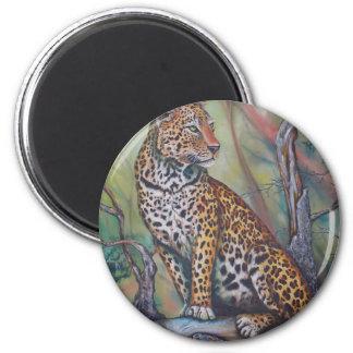 Leopard Sitting in a Tree Magnet