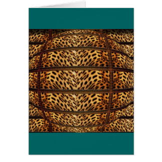 Leopard skin 3D greeting cards