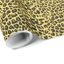 Leopard Skin A&B Image Options Wrapping Paper