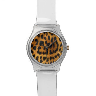 Leopard skin animal print watch
