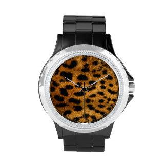 Leopard skin, animal print Watch