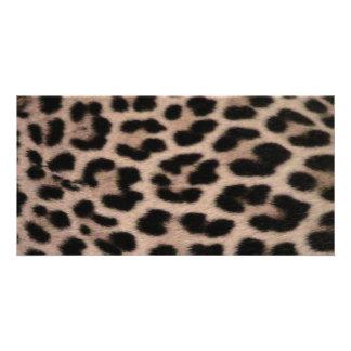 Leopard Skin background Card