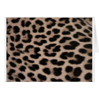 Leopard Skin background Greeting Card