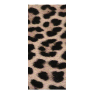 Leopard Skin background Personalized Rack Card