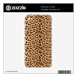 leopard skin Design Print Skin For The iPhone 4