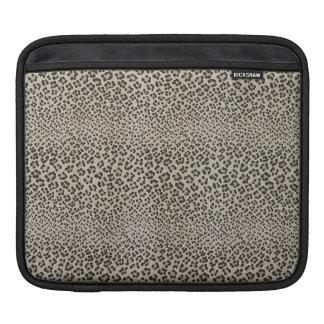 Leopard Skin Exotic Animal Print Elegant Black Sleeve For iPads