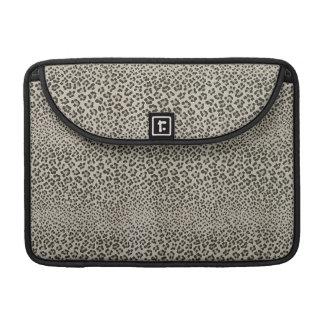 Leopard Skin Exotic Animal Print Elegant Black Sleeve For MacBooks