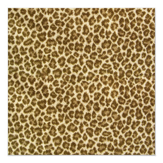 "Leopard Skin Fabric Pattern 5.25"" Square Invitation Card"