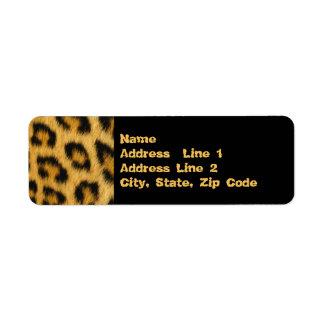 Leopard Skin, Fur, Hair Print Label
