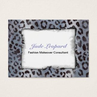 Leopard Skin in Blue Slate Business Card