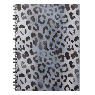 Leopard Skin in Blue Slate Notebook