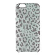 leopard Skin in jade Blue Clear iPhone 6/6S Case (<em>$54.25</em>)