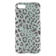 leopard Skin in jade Blue iPhone 7 Case (<em>$54.25</em>)